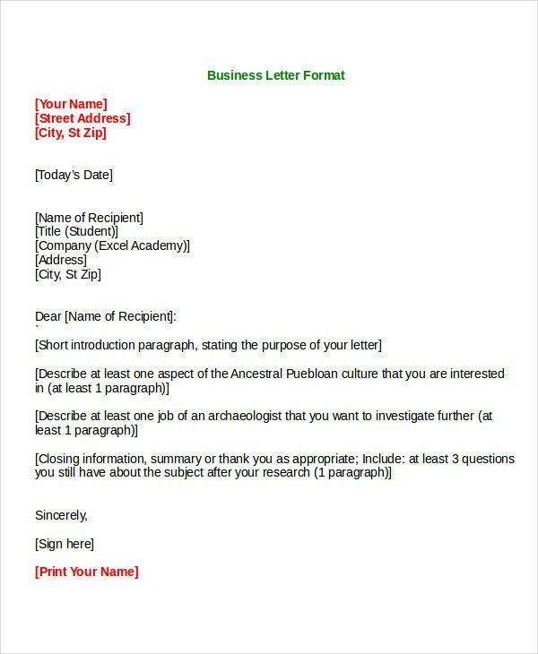 Formal Letter Templates - 45+ Free Word,PDF Document Download ...