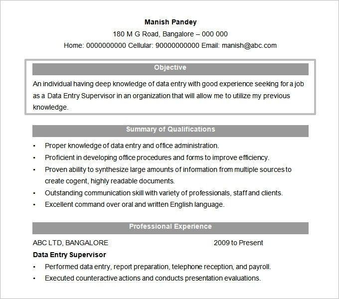 Sample Resume Objective Examples | jennywashere.com
