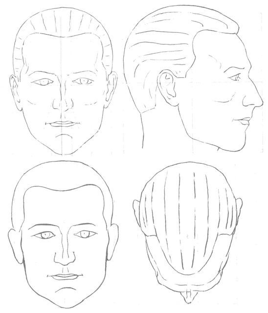 10 Blank Face Chart Templates (Male Face Charts and Female Face ...