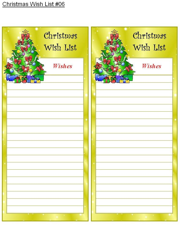 Christmas List Maker | Best Business Template