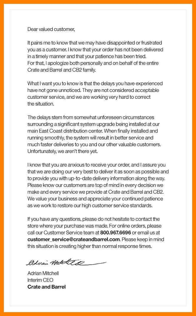 Customer Apology Letter. Apology Letter For Customer Documentshub ...