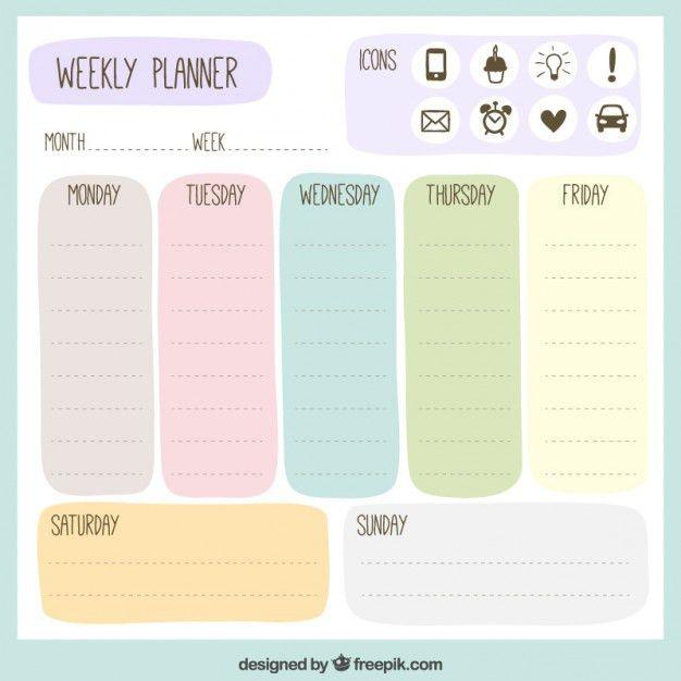 Day planner design Vector | Free Download