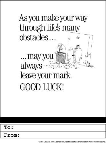 Good Luck Printable Greeting Card