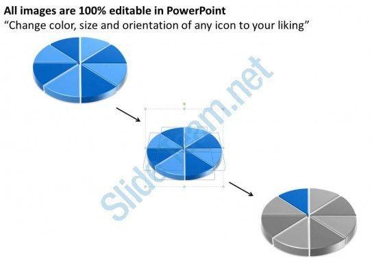 Business Flow Diagram Example Pie Chart For Data Comparison 8 ...