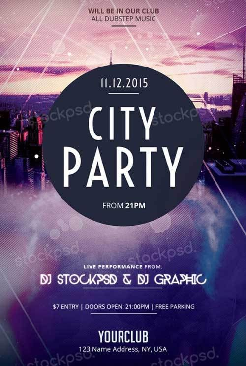 City Party Free PSD Flyer Template - http://freepsdflyer.com/city ...