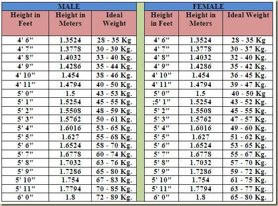 Best 25+ Height weight charts ideas on Pinterest   Weight charts ...