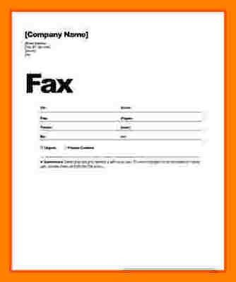 Fax Sheet Cover Template [Template.billybullock.us ]