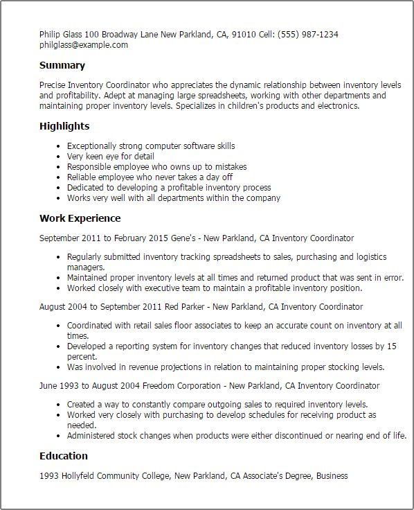 Download Inventory Resume | haadyaooverbayresort.com