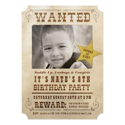Cowboy Birthday Party Invitations – Invitations 4 U