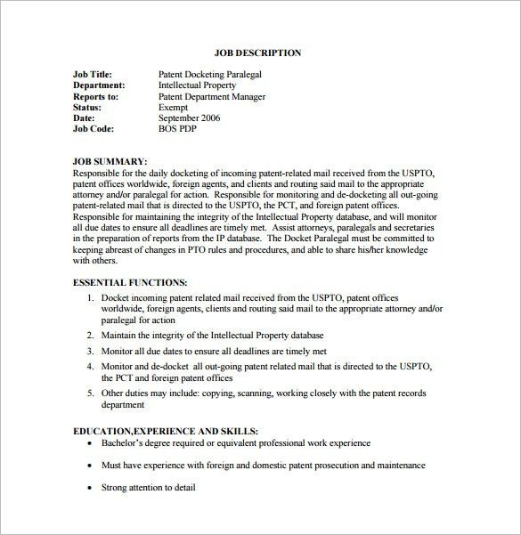 patent attorney job description patent attorney job description