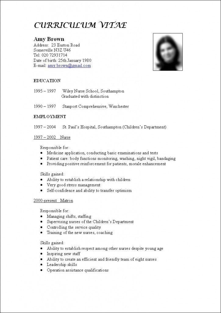 Download What Is A Cv Resume | haadyaooverbayresort.com
