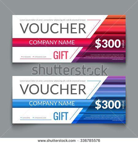 Vector Gift Voucher Coupon Template Design Stock Vector 318701543 ...