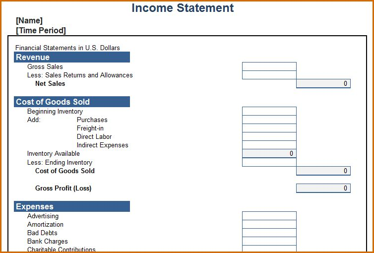 8+ income statement template | Authorizationletters.org