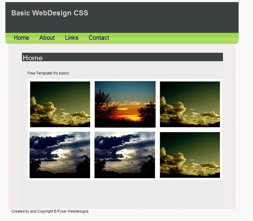 Basic Web Template by ryano292 on DeviantArt