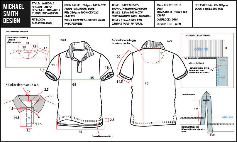 What is a garment tech pack or spec sheet?