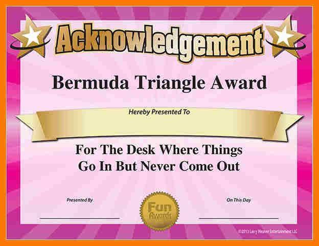 6+ fun certificate templates   park-attendant