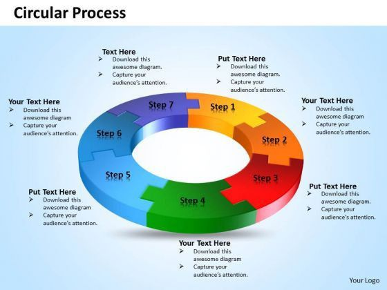 Ppt Seven Steps Circular Process Flow Diagram Presentation ...