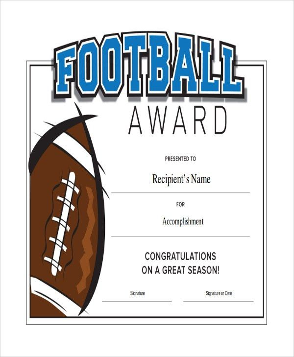 "Football Certificate Template. ""You Crushed It"" Certificate - Part ..."