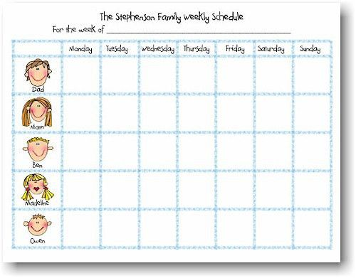 10 Best Images of Printable Weekly Family Calendar - free ...