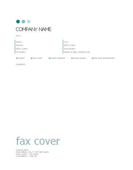 Fax cover sheet (Dots design) - Office Templates