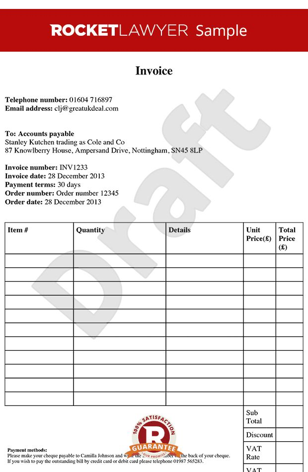 Template - Free Invoice Template - Create an Invoice Template