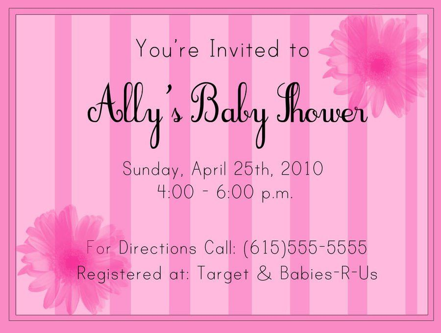 Baby Shower Invitations: Mesmerizing Sample Baby Shower ...