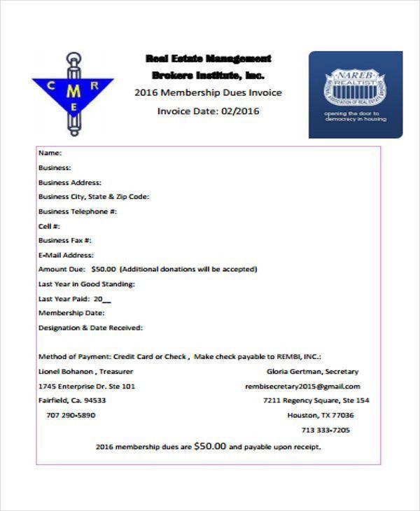 8+ Real Estate Invoice Templates - Word, PDF | Free & Premium ...