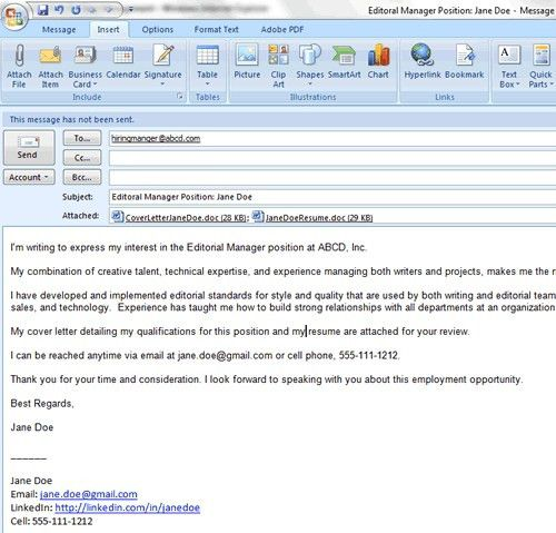 sample email when sending resume sample email to send resume and ...