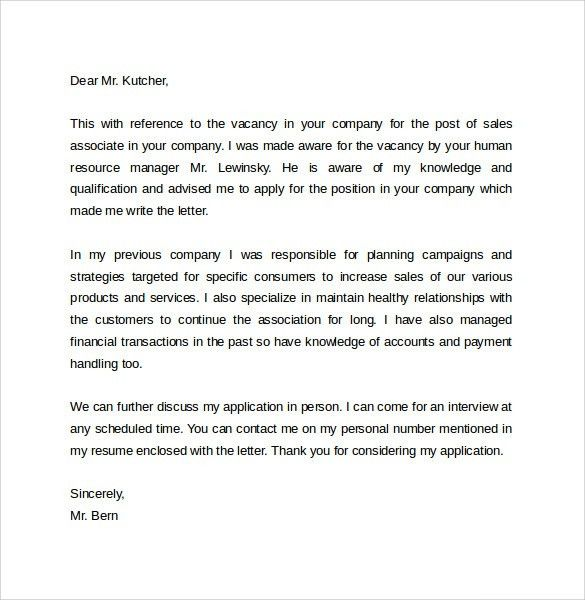 20+ Sales Representative Cover Letter Sample | Sample Resume Cover ...