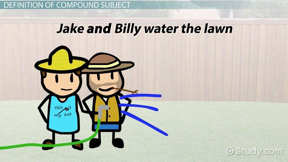 Compound Subject: Definition & Examples - Video & Lesson ...