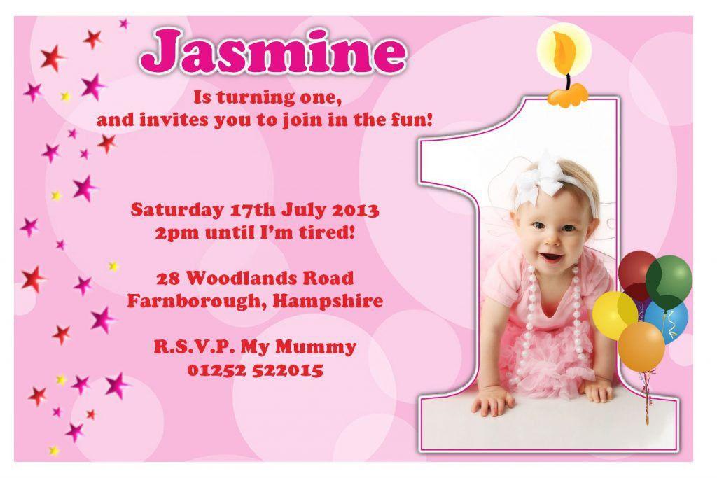 Card Invitation Design Ideas: 1st Birthday Invitations Girl ...