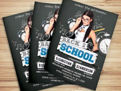 Back To School Party Flyer Template by Christos Andronicou - Dribbble