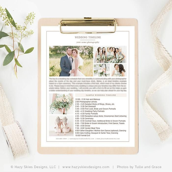 Photography Wedding Timeline Template, Wedding Timeline Printable ...