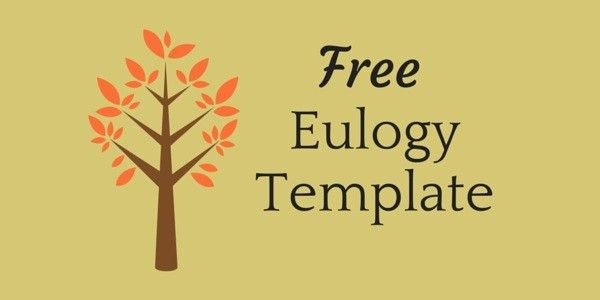 Free Eulogy Template – BioTemplates.com