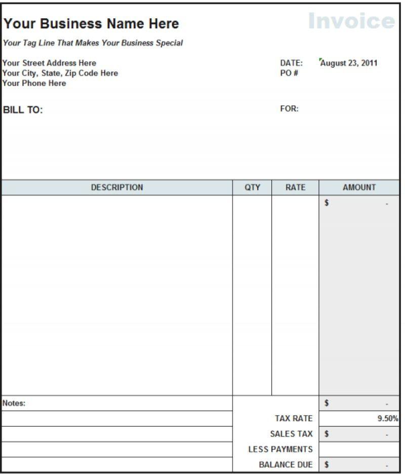 Subcontractor Invoice Template Australia – robinhobbs.info