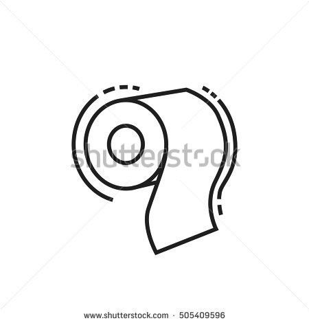 Simple Pictogram Toilet Paper On Transparent Stock Vector ...