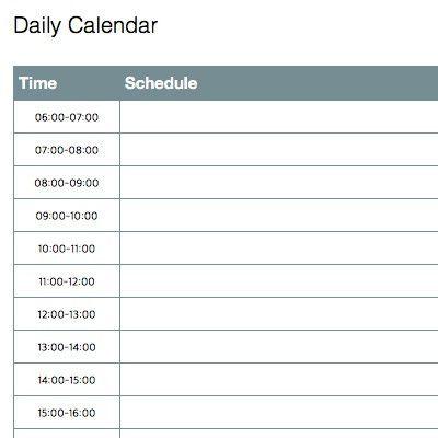 Daily Calendar Image – Printable Editable Blank Calendar 2017