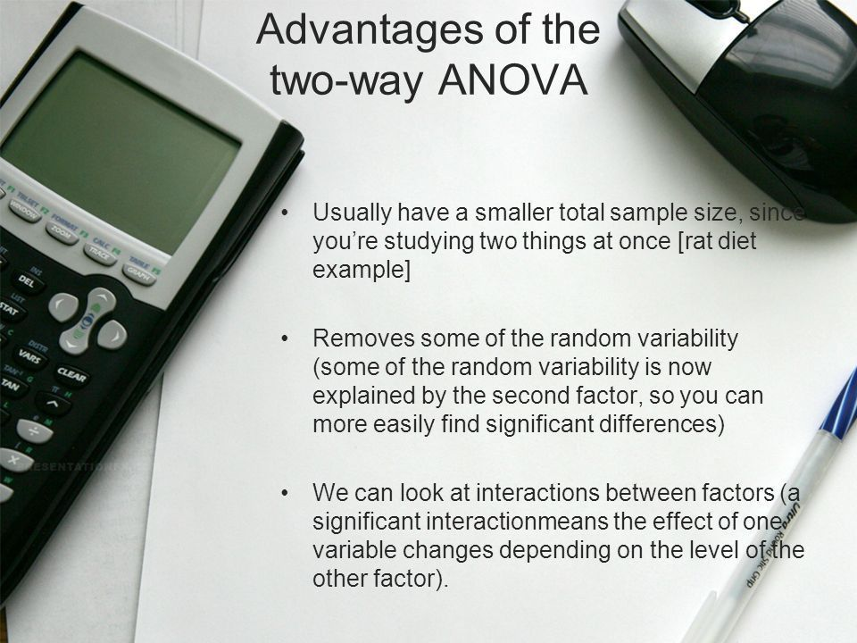 F-Test ( ANOVA ) & Two-Way ANOVA - ppt download