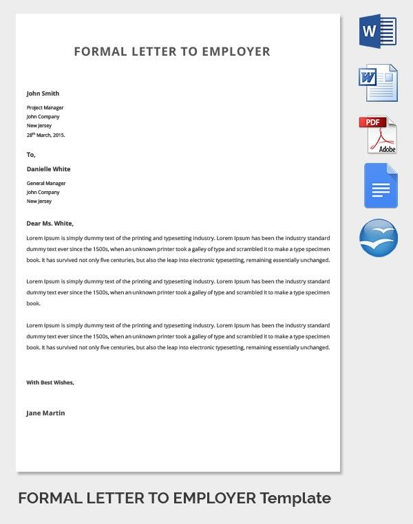 21+ Best Formal Letter Templates - Free Sample, Example Format ...