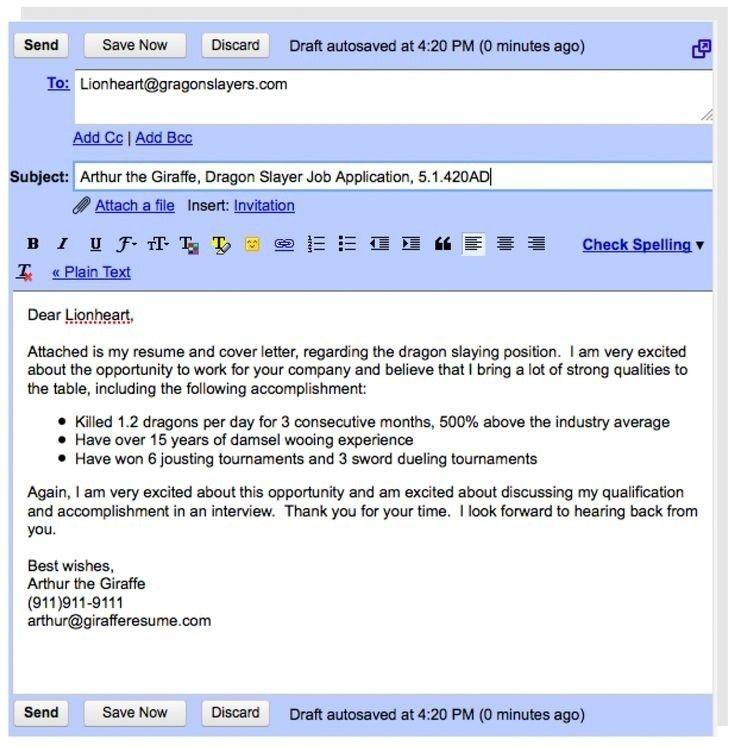 sample email cover letter for resume jennywasherecom