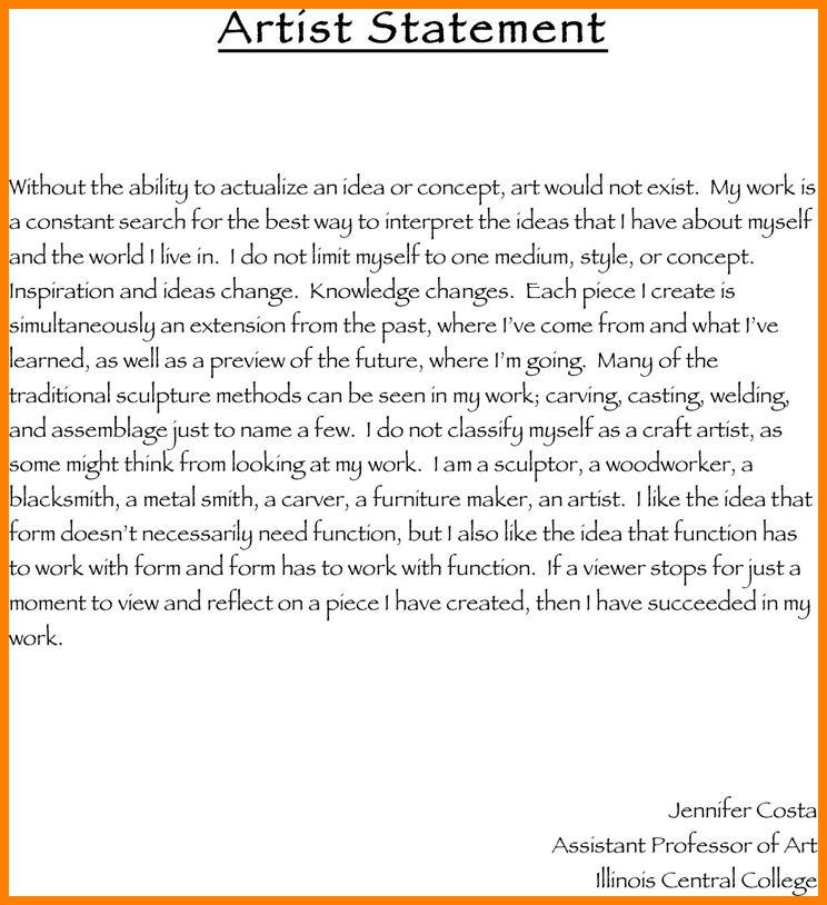 7+ sample artist statement   Statement Information