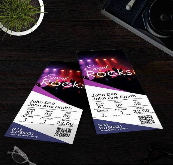 16+ Free Ticket Templates - Event, Holiday, Travel, Concert | Free ...