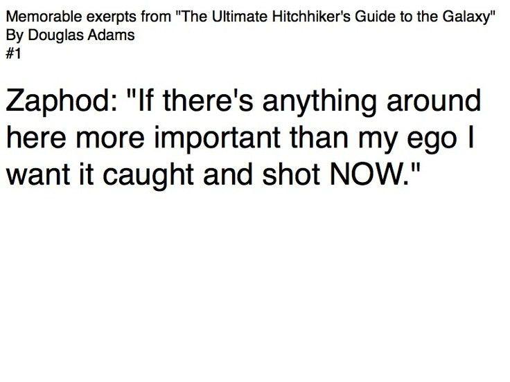 26 best Douglas Adams Quotes images on Pinterest | Douglas adams ...