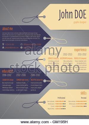 Tags cv curriculum vitae resume template design Stock Photo ...