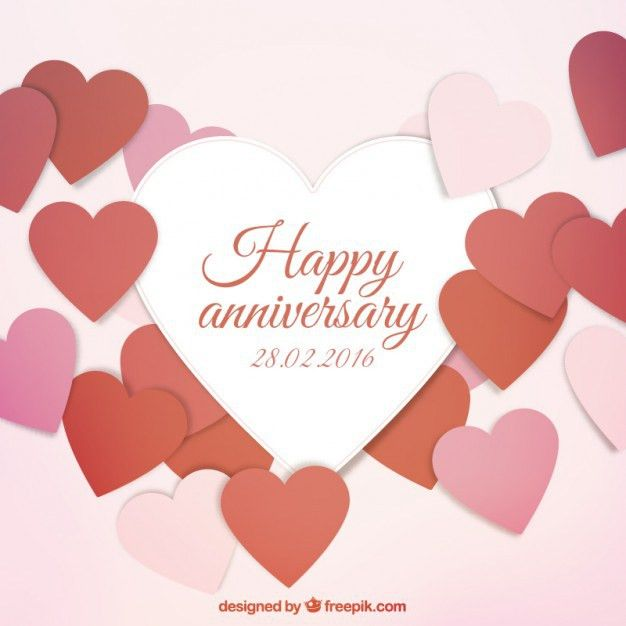 Happy anniversary card Vector | Free Download