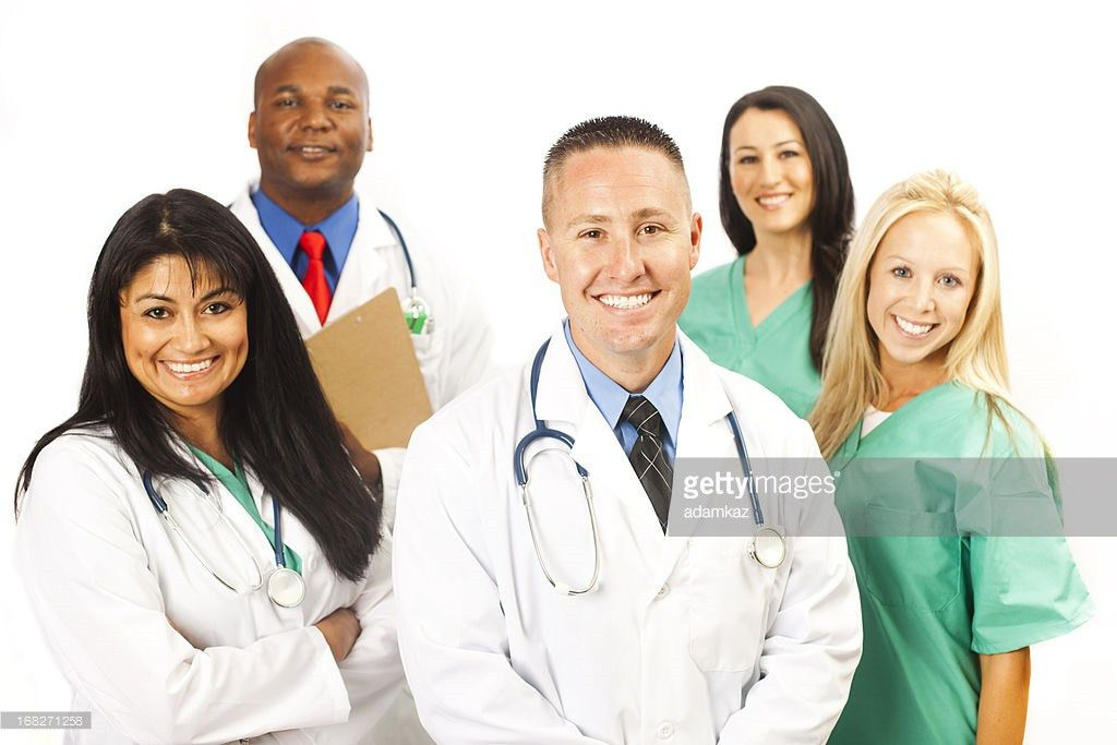 Young Diverse Professional Medical Team Stock Photo | Getty Images