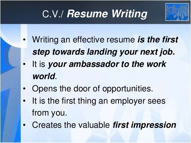 how to write a effective resume effective resume writing