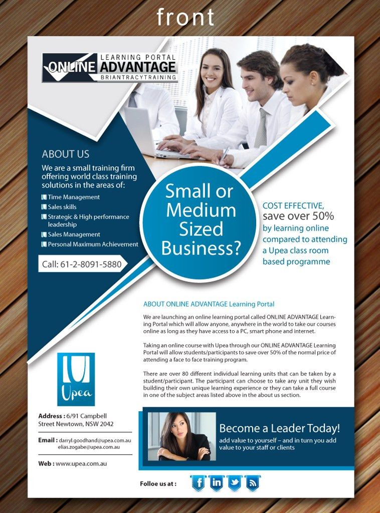 Modern, Professional Flyer Design for Upea by Smart | Design #1741828