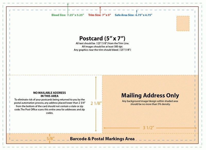 5X7 Postcard Template | Template Business