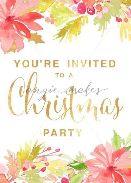 Christmas Party Invitation Template. Print This Christmas Party ...